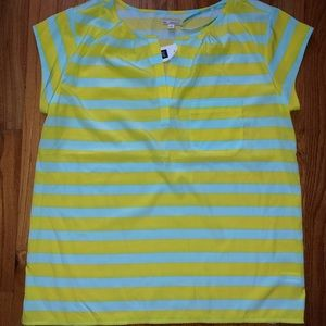 NEW with Tags Gap Mint and Neon Yellow Top
